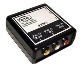 ETS ETS-AV901 Baseband RCA Video & Stereo Audio Cat5 Extender ETS-AV901