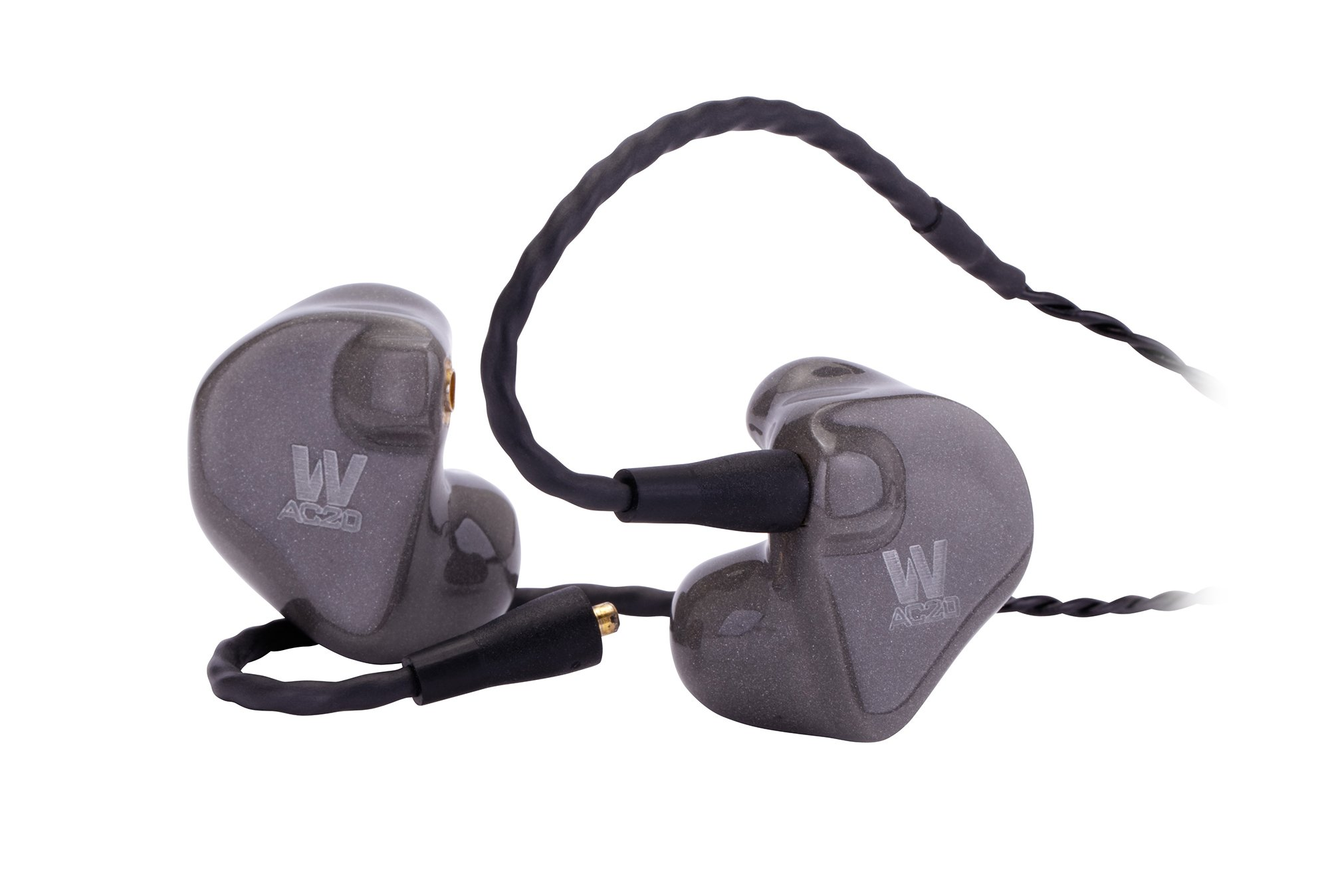 In-Ear Custom Fit Dual Driver Earphone Monitors in Clear