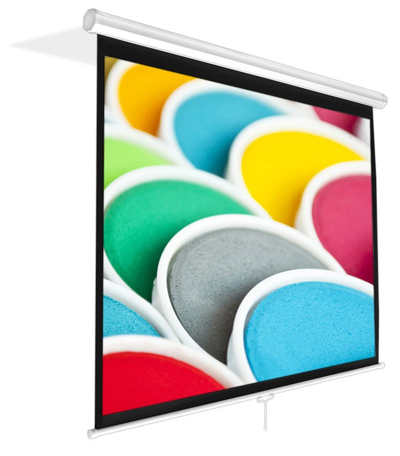 "Pyle Pro PRJSM9406 Universal 84"" Roll-Down Pull-Down Manual Projection Screen (50.3'' x 67.3''), in Matte White PRJSM9406"