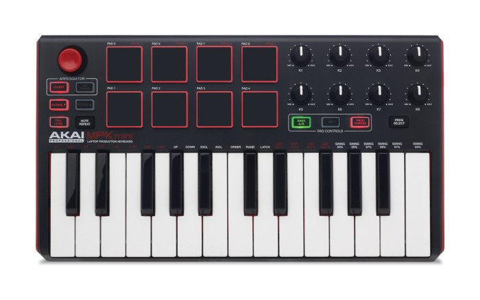 25-Key USB MIDI/Pad Controller