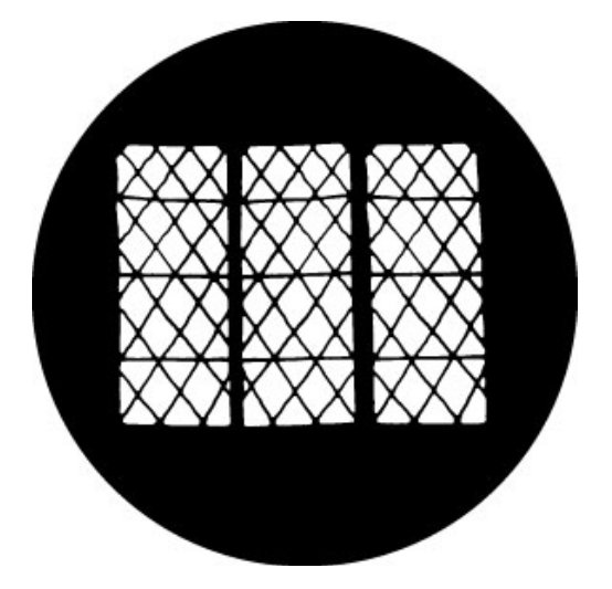 Drawn Lattice Steel Gobo Pattern