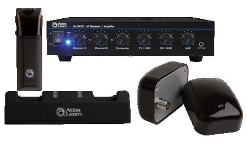 Atlas Learn Single MAGPIE Wireless Microphone and Dual IR Dome Kit
