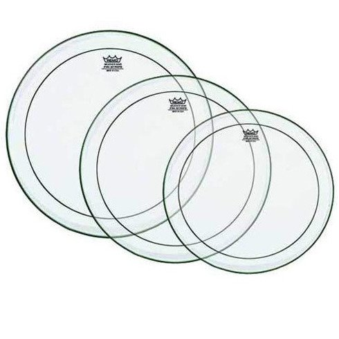 "Clear Pinstripe Drumhead Pack: 10"",12"",14"""