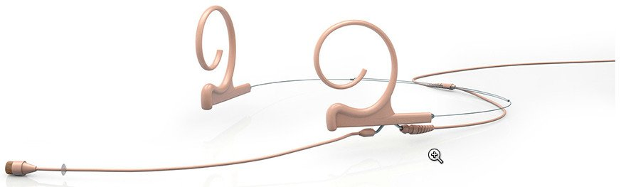 d:fine Dual Ear Omnidirectional Headset Microphone with Short Boom and Mini-Jack connector