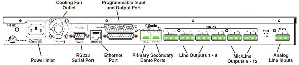 DNT Series 32 Input 16 Ouptut Dante Network Processor