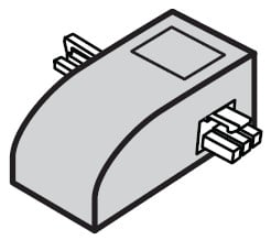 5 Pack of End to End Connectors in White for eW Profile Powercore