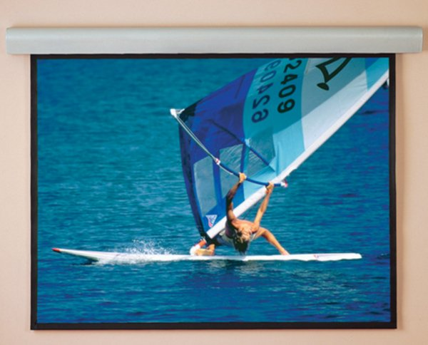 """92"""" Silhouette/Series E Electric HDTV Projection Screen in Pearl White"""