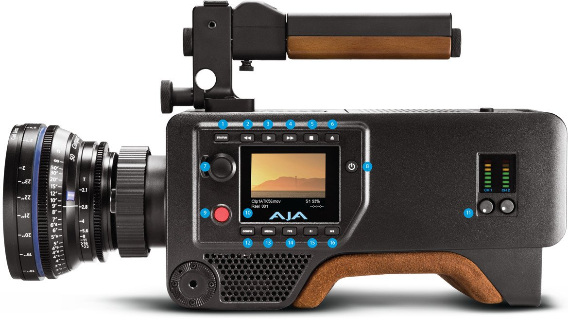 4K and HD Production Camera Body with PL Lens Mount