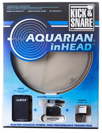 """Aquarian Drumheads IHPK14 14"""" inHEAD Kick/Snare Trigger IHPK14"""