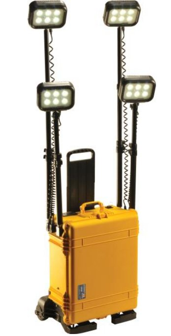 Remote Area Lighting System with Wireless Activation & Built-In Dolly System