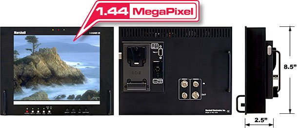 """10.4"""" LCD Monitor with 2 Composite Video Inputs"""