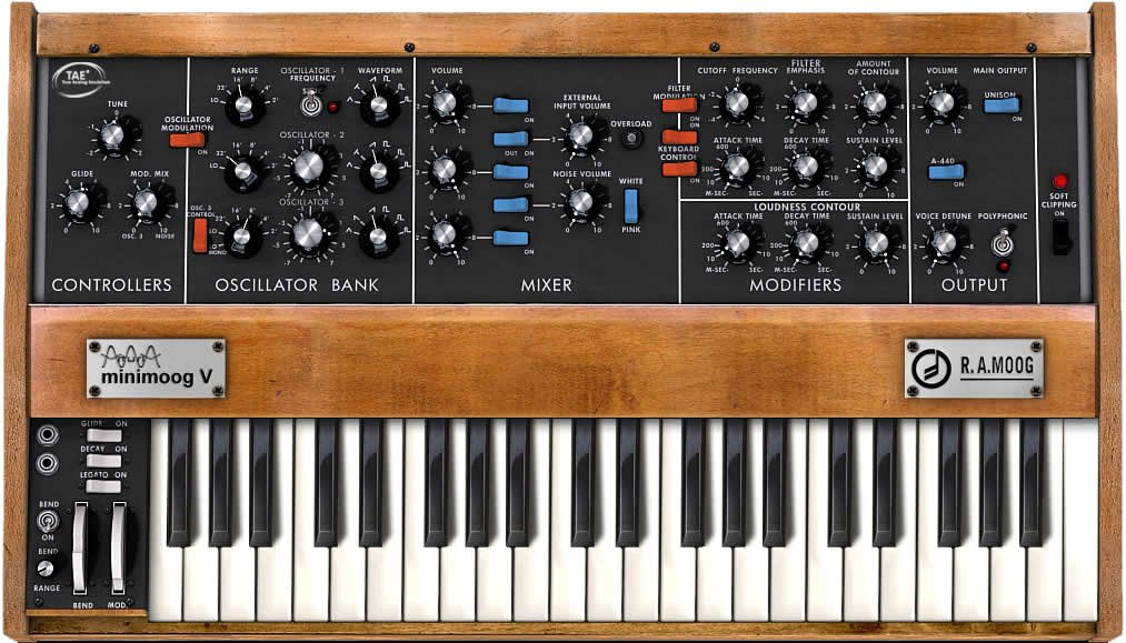 Minimoog V Software Synthesizer [ELECTRONIC DELIVERY]
