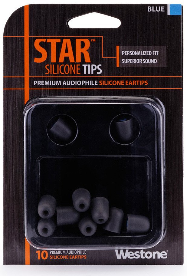 10 Pack of Blue STAR Silicone Eartips