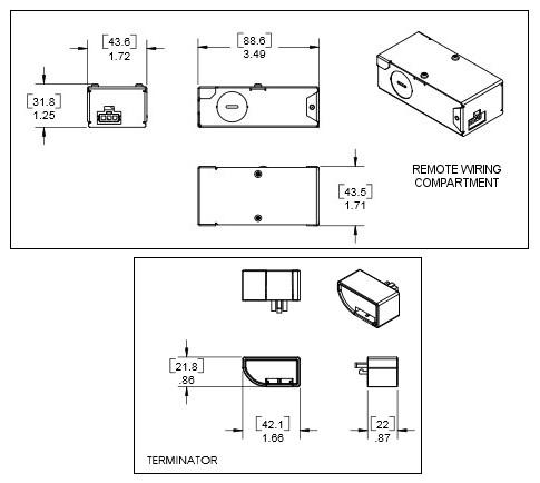 eW Profile 120VAC Wiring Compartment, White