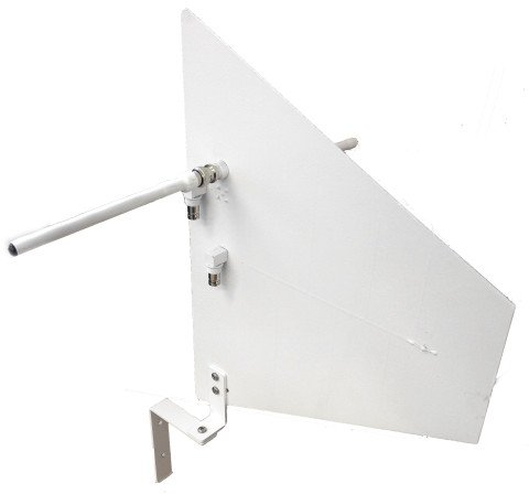 Diversity Fin Antenna with Wall Mount Bracket, Black