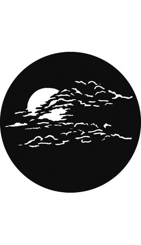"""Rosco Laboratories G795 """"Moon with Clouds 2"""" Gobo G795"""
