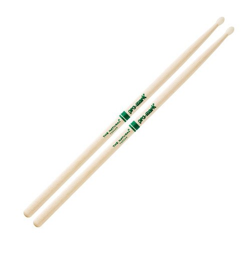 5A The Natural Hickory Drumsticks with Nylon Tip