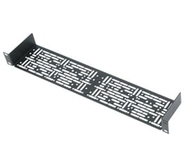 """1 RU 3.5"""" D Universal Rack Shelf with 3 Partial Blank Panels and Hardware"""