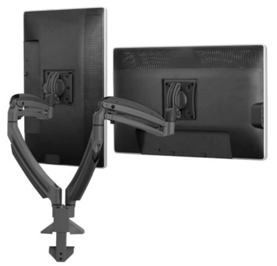 Kontour K1D Dynamic Desk Clamp Mount for 2 Monitors