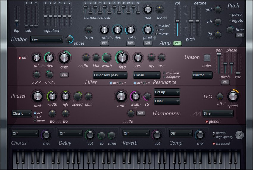 Image Line IL-HARMLESS Harmless Additive Synthesizer Software Virtual  Instrument