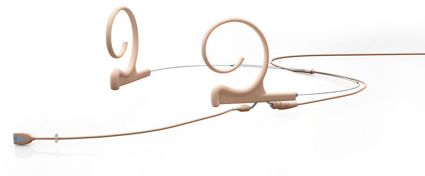 d:fine Dual-Ear Omnidirectional Headset Microphone for Sennheiser Wireless with Long Boom in Beige