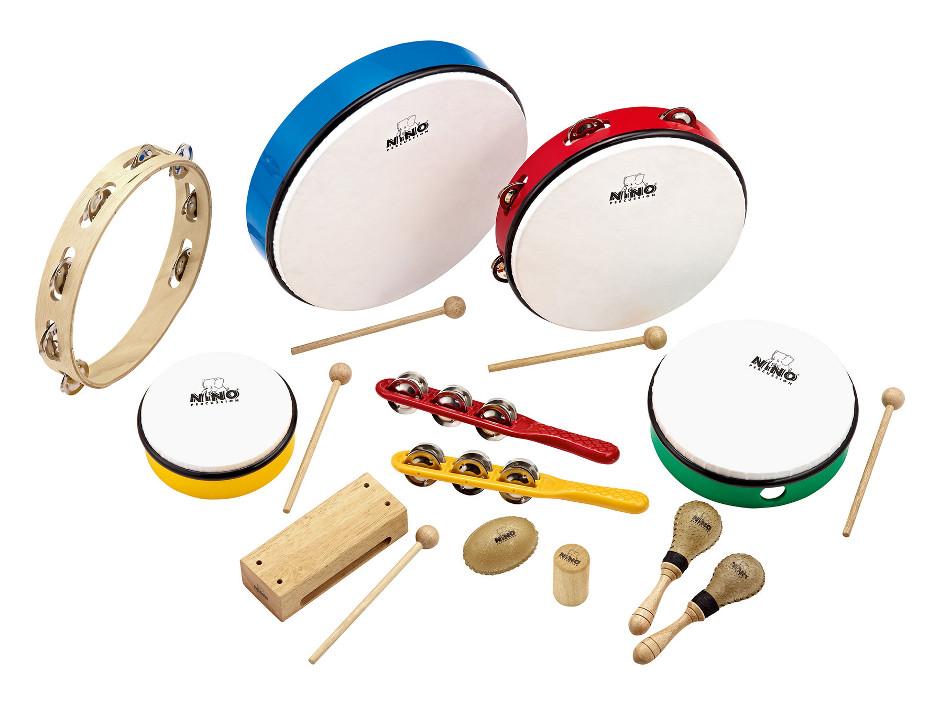 NINO Percussion NINOSET012 12-Piece Kid's Percussion Kit NINOSET012