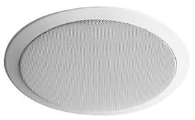 "Full Range 70V 5.25"" 4 Watt Ceiling Speaker with Grill, White"