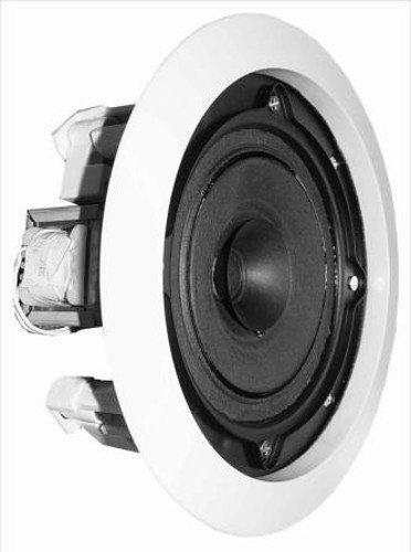 """Full Range 70V 5.25"""" 10 Watt Ceiling Speaker with Grill, White"""