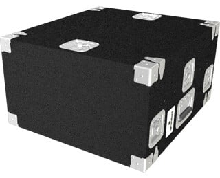 Top Load Carpeted Rack Case, 10 Space Slant Top, 2 Space Bottom