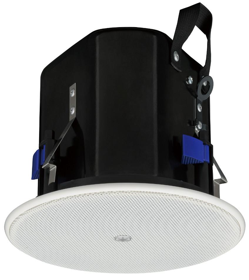 """4"""" 8 Ohm/70V Ceiling Speaker Pair in White"""