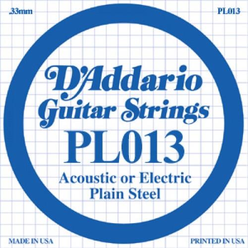 ".013"" Plain Steel Single Guitar String"