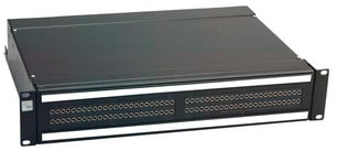 2RU 2 x 48 Bantam Pro Patch Audio Patchbay with QCP MKII Termination, Normals-Strapped