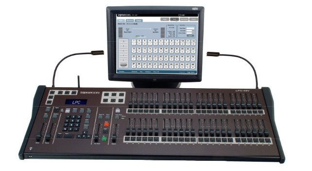 "LPC Series 48-Channel Lighting Console with Encoders and 15"" ELO Touch Screen Monitor"