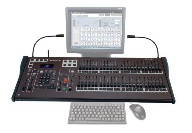 "LPC Series 48-Channel Lighting Console with Encoders and 19"" ELO Touch Screen Monitor"