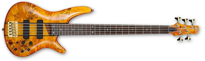 Amber Bubinga/Mahogany SR Series 5-String Electric Bass