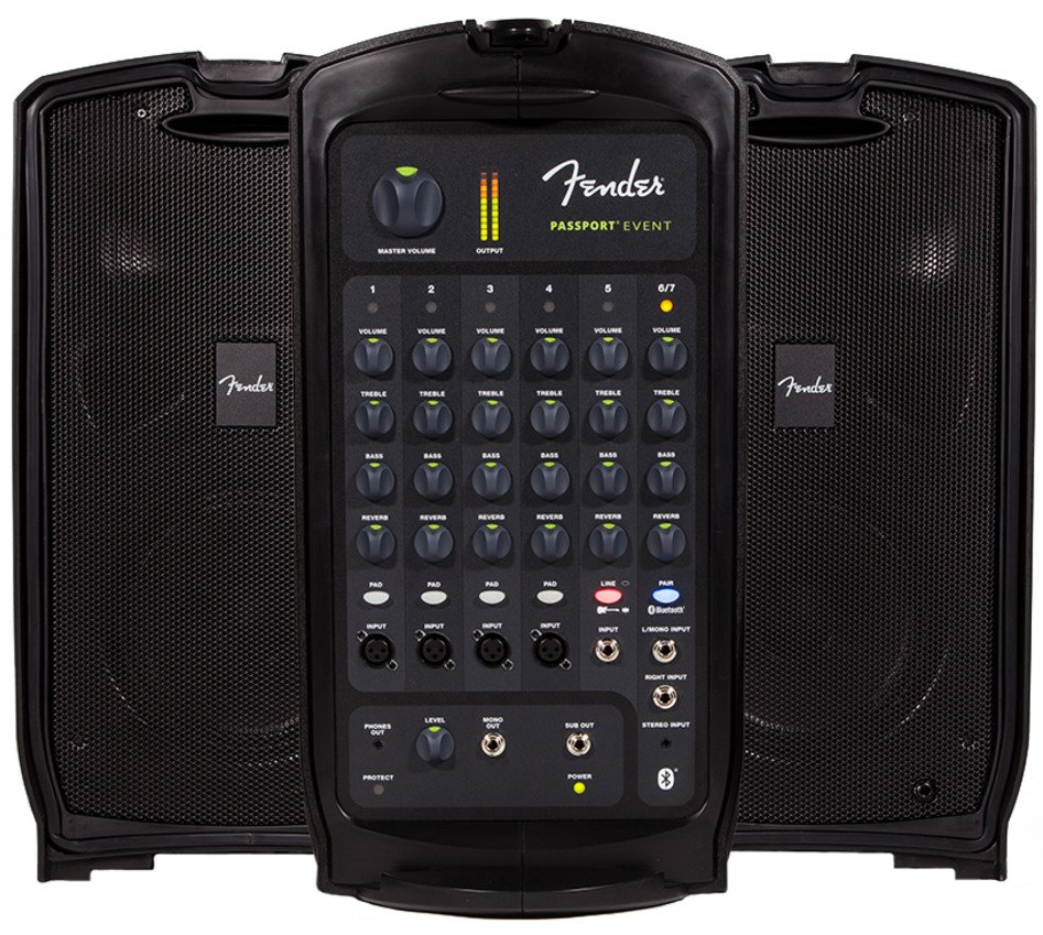 7 Channel 375 Watt Portable PA System with Bluetooth
