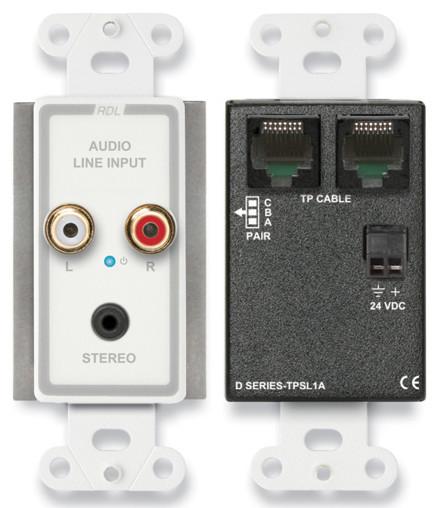 Active Single Pair Sender, Mini-Jack & Stereo RCA In