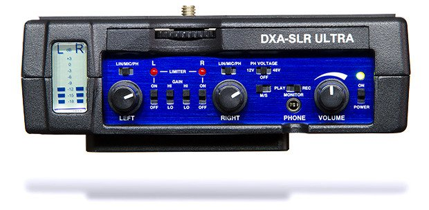 Active DSLR-XLR Adapter with Rails