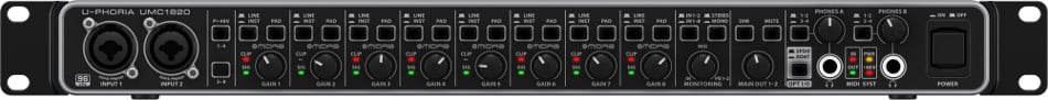 18x20 USB 24-bit/96 kHz Audio/MIDI Interface