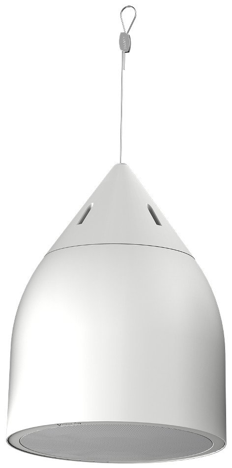 "2 Way 8"" High Output Pendant Loudspeaker in White, 8 ohm or 70V Operation"