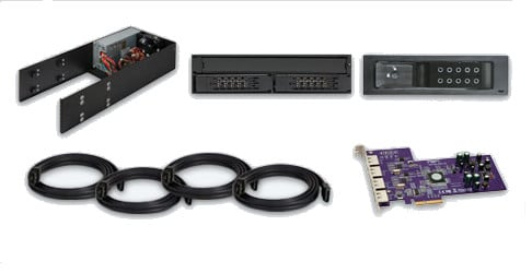 Mobile Rack Device Mounting Kit with 4x BD-R/8x DVD±RW Blu-Ray Burner