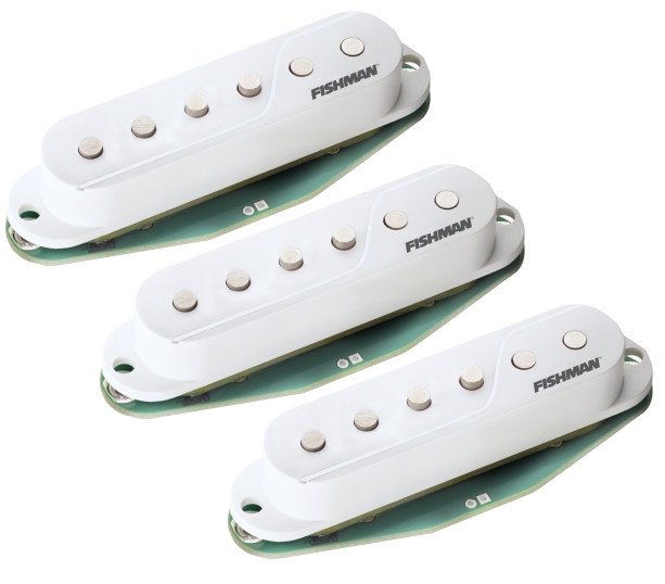 3-Pack of Single-Coil Electric Guitar Pickups in White