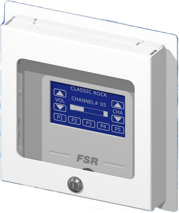 Flushmount 4-Gang Wall Plate with Cover & Window