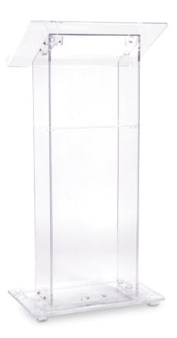 Clear Acrylic Podium
