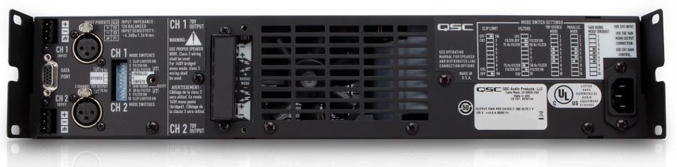 QSC CX702-220 2-Channel Power Amplifier, 425 Watts @ 8 ohms, 220 Volt CX702-220