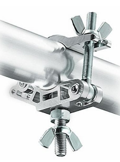 MP Slim Eye Coupler with M12 Bolt and Nut in Silver