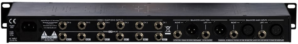 art headamp6 pro 6 channel headphone amplifier full compass. Black Bedroom Furniture Sets. Home Design Ideas