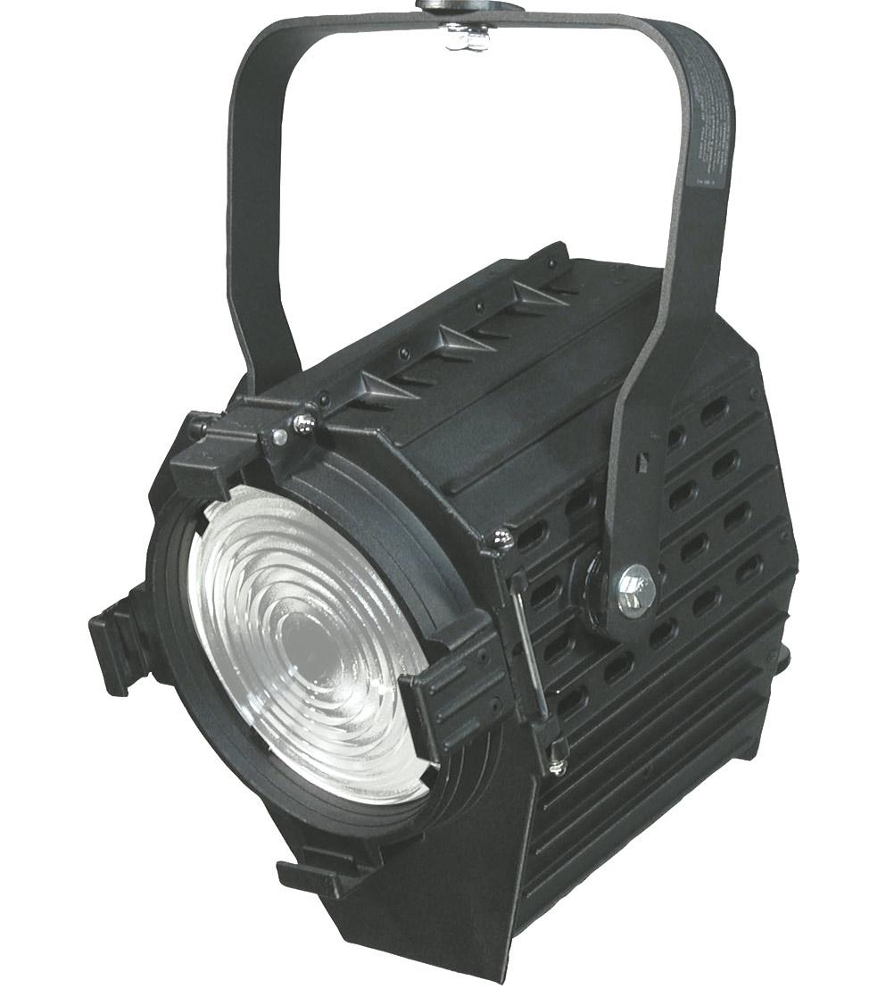 "6"" 1000W Focusing Fresnel with Medium Bi Post Socket in Black"
