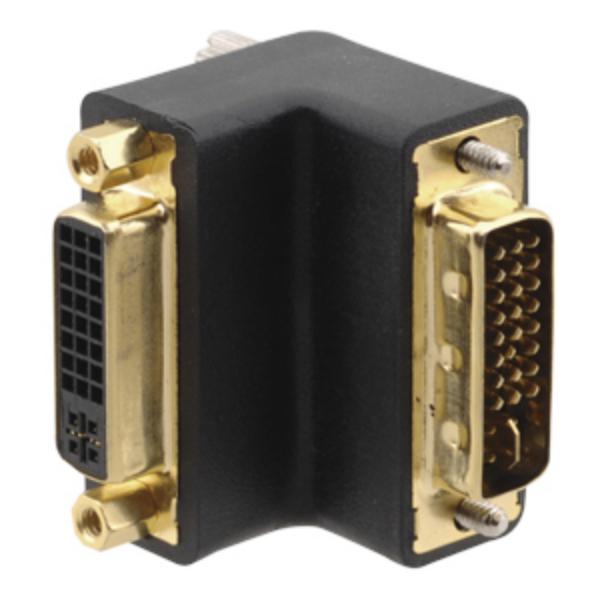 DVI-I (F) to DVI-I (M) Right-Angle Adapter