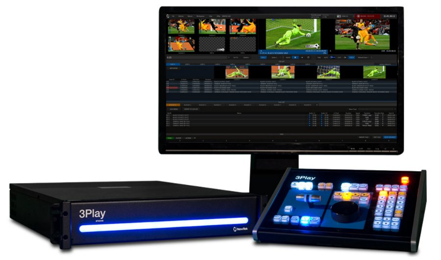 4 Input HD-SD Switchable Video Replay System with Control Surface